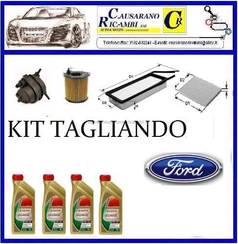 kit 4 litri olio castrol 5w30 edge 4 filtri ford fiesta. Black Bedroom Furniture Sets. Home Design Ideas